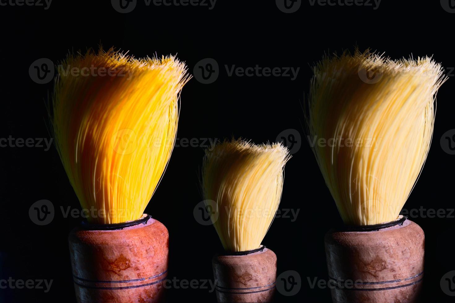 equipamento de escova de barbear - imagem de stock foto