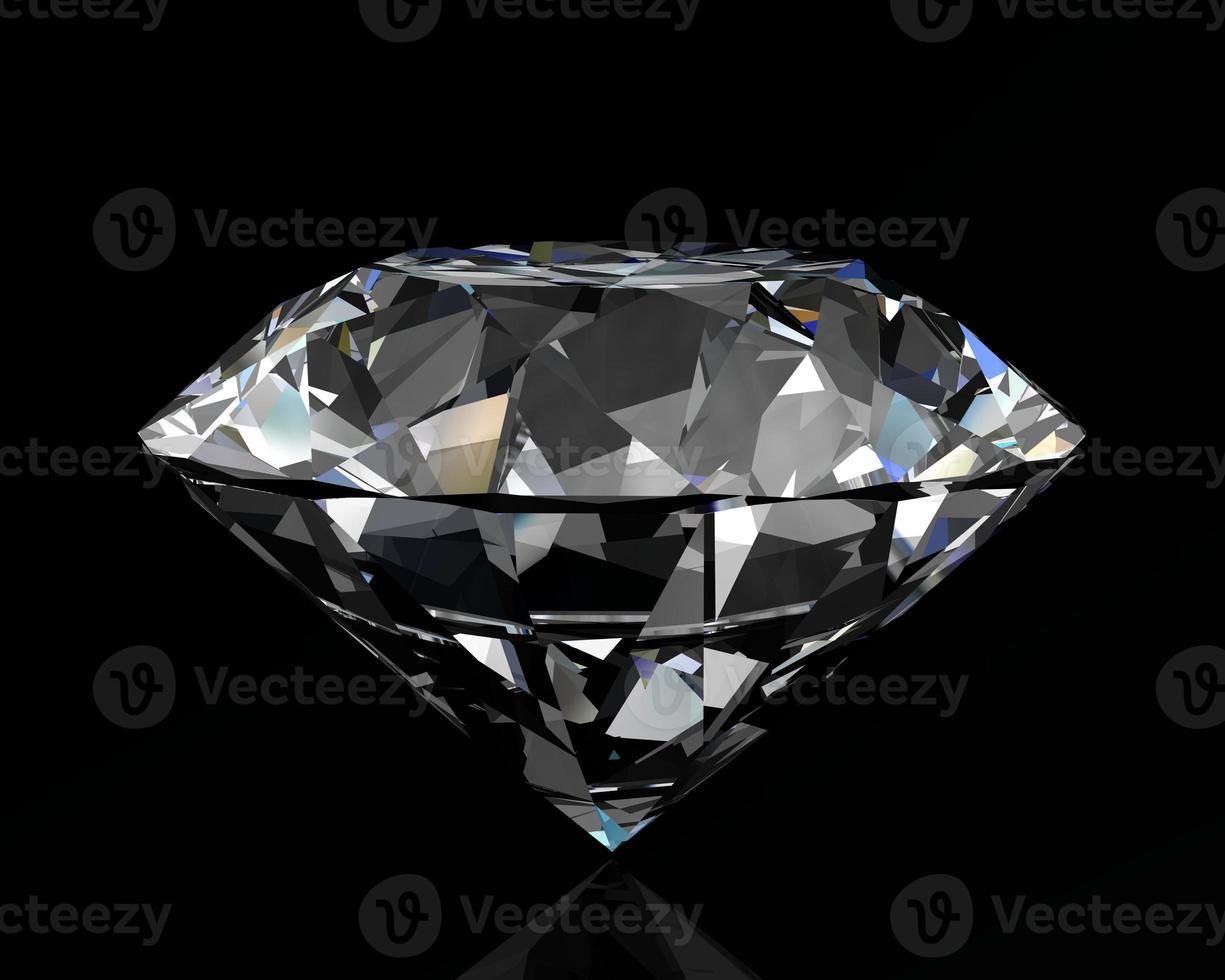 jóia de diamante no fundo branco foto