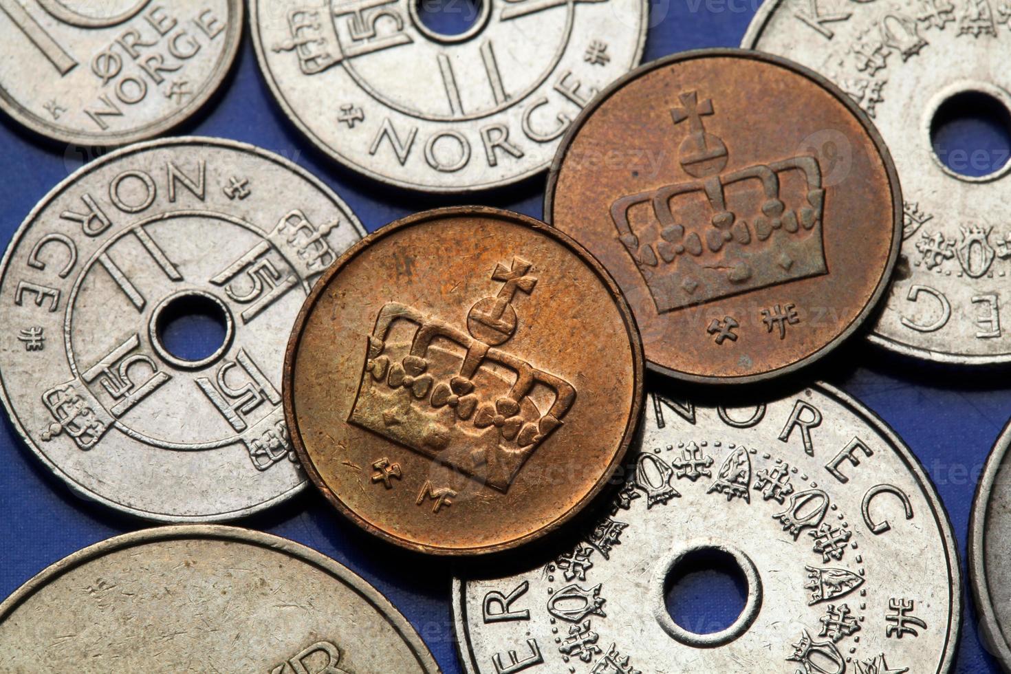 moedas da noruega foto