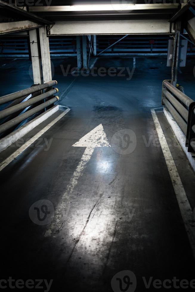 entrada de garagem, sinal de seta foto