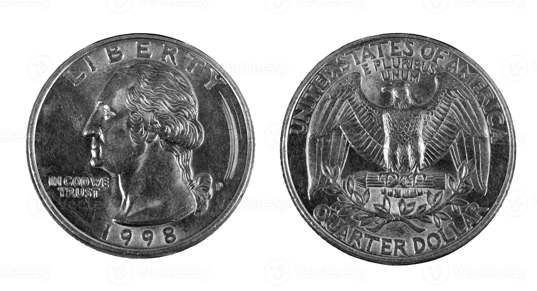 moeda de um quarto foto