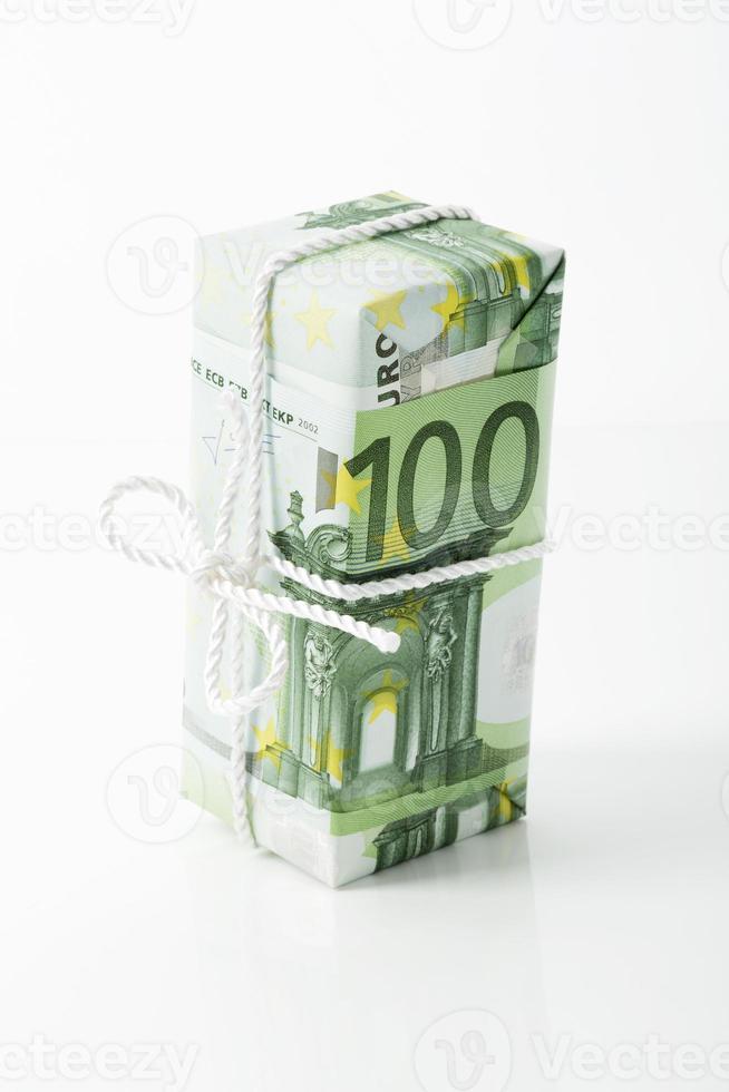 Nota de 100 euros, pacote de poupança foto