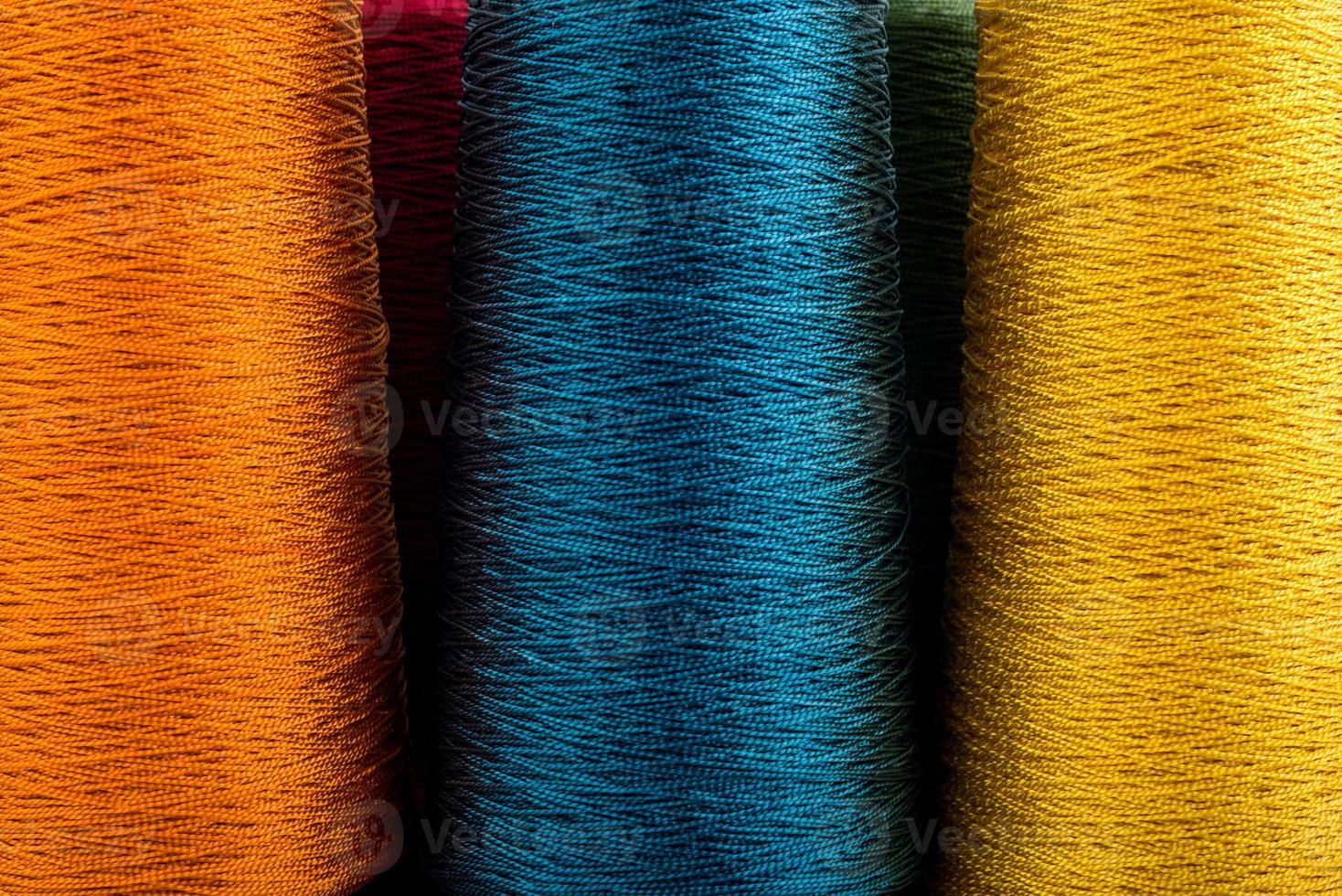 closeup de fio colorido foto