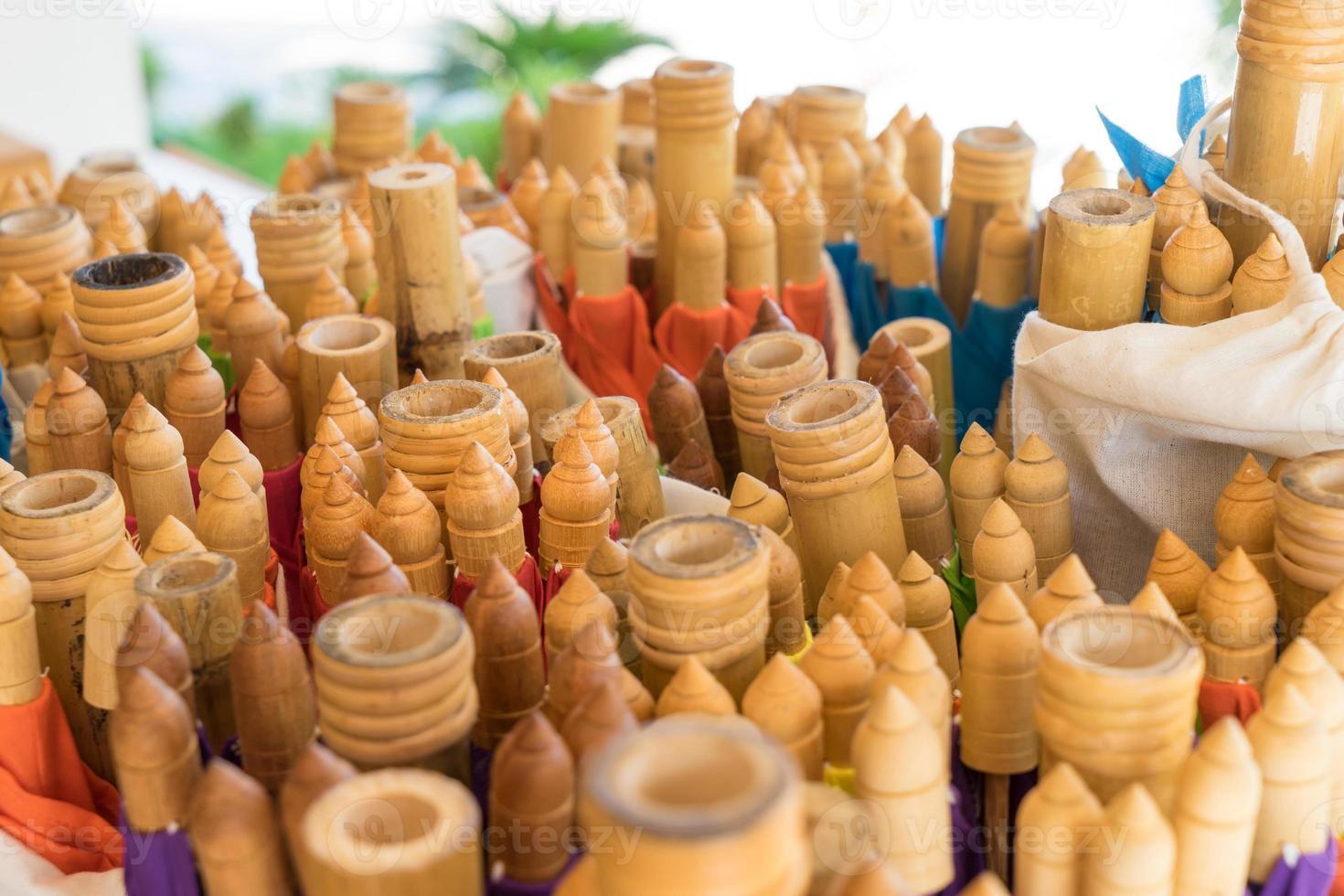produção de bambu artesanal tailandês foto