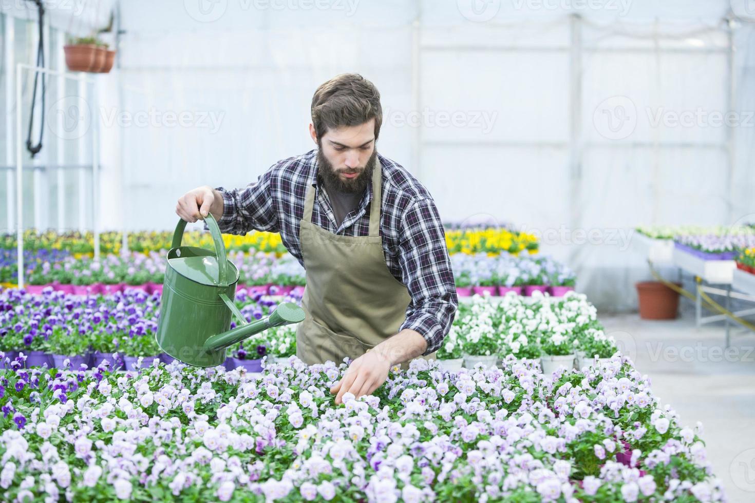 jovem florista foto