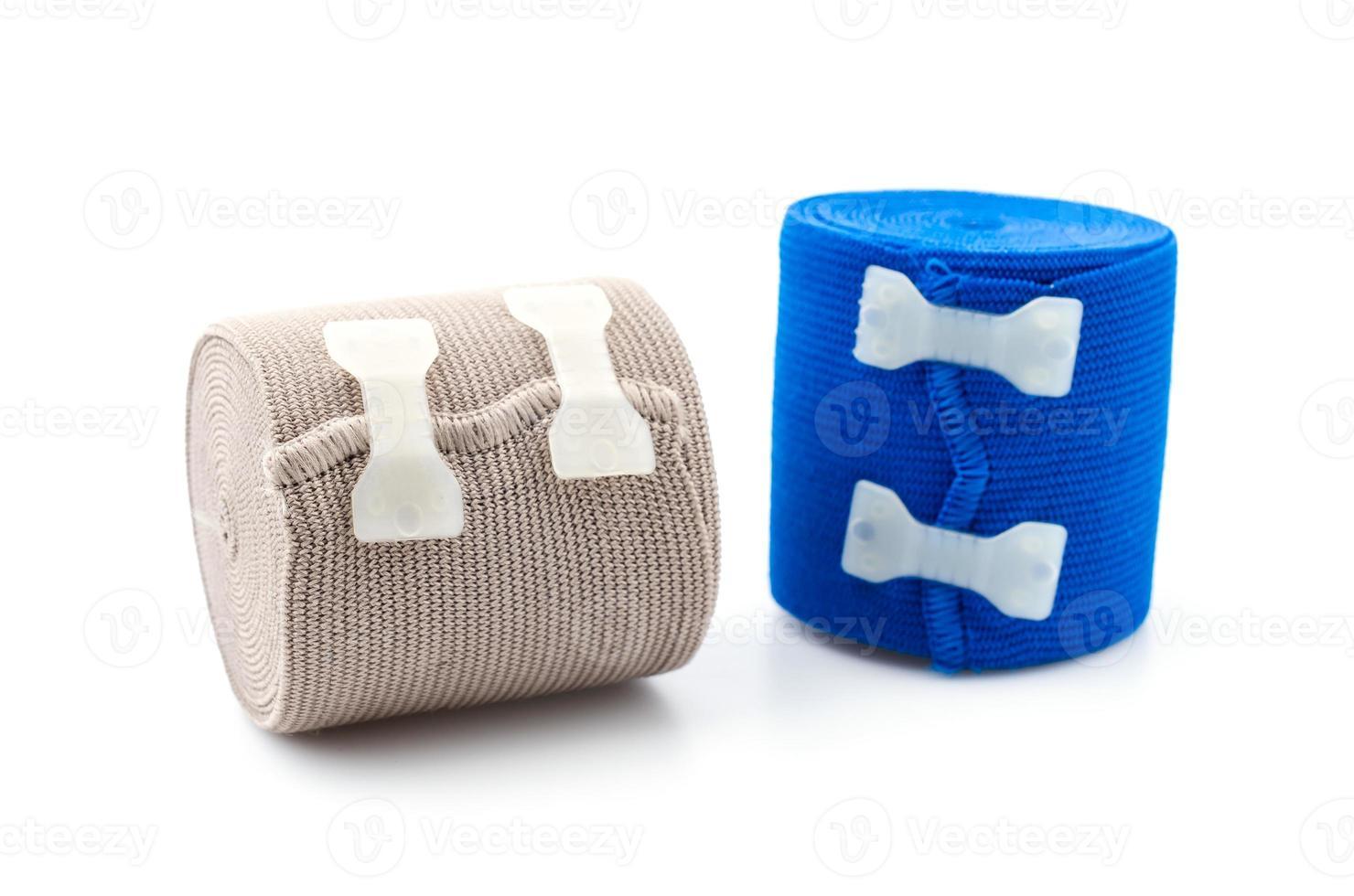 bandagem elástica isolado fundo branco foto