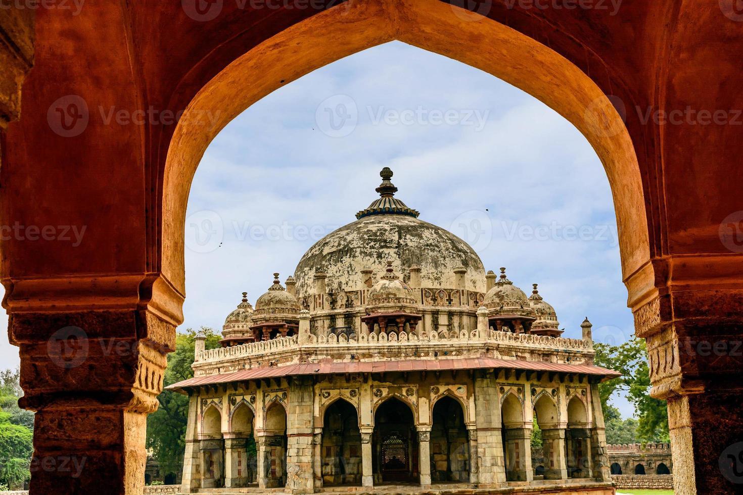 túmulo de isa khan niyazi, complexo humayan, nova deli foto