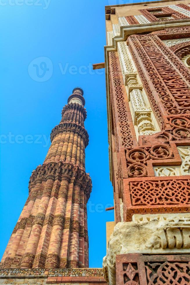 qutub minar, deli, índia foto
