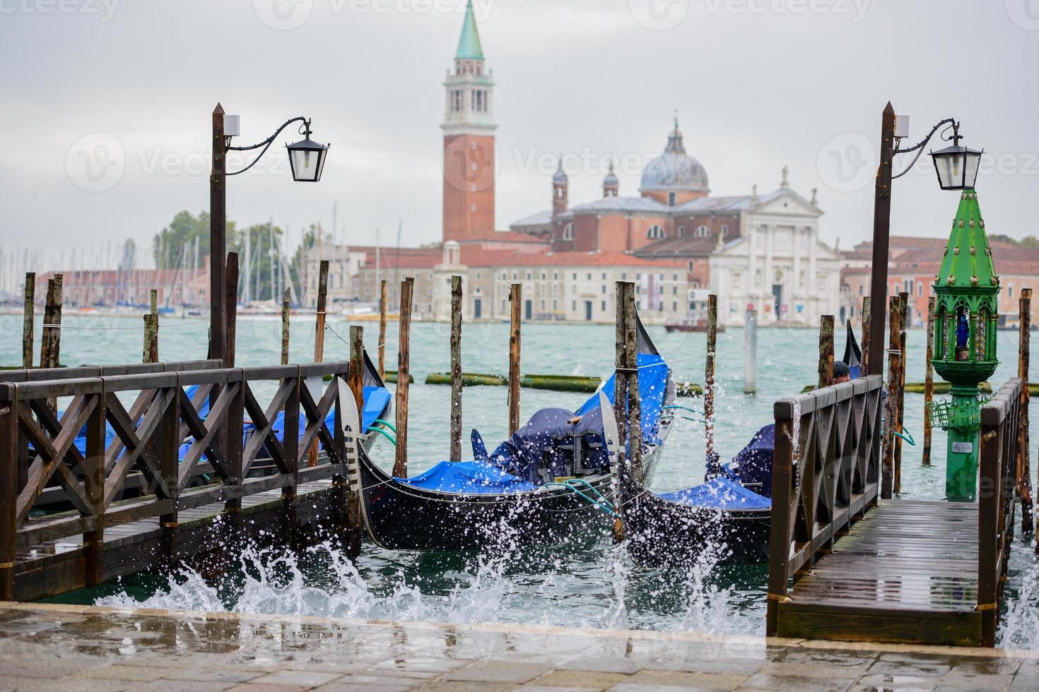 mar agitado em Veneza foto