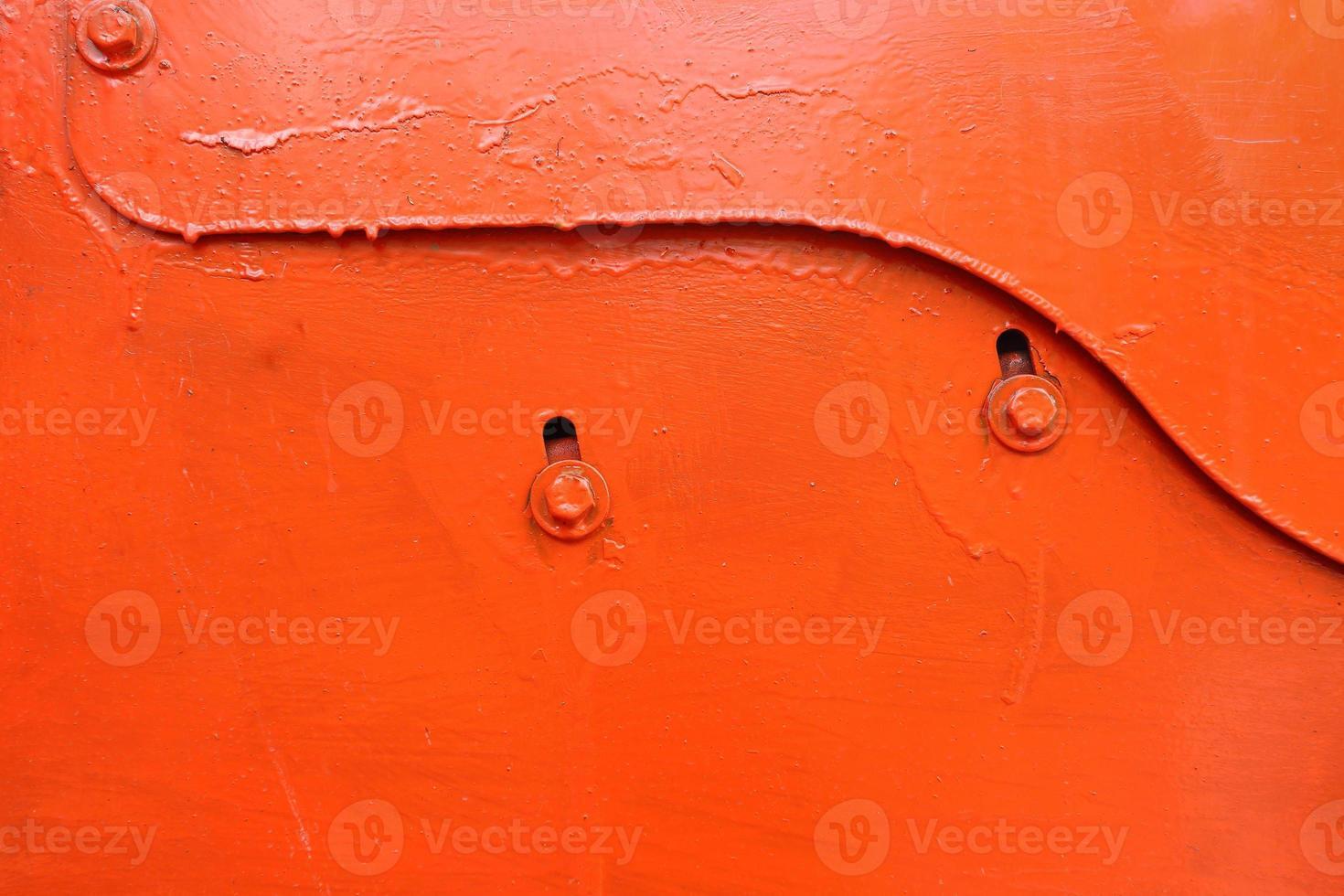 fundo da placa de metal laranja foto