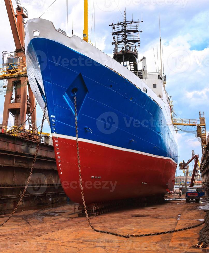 navio em doca seca foto