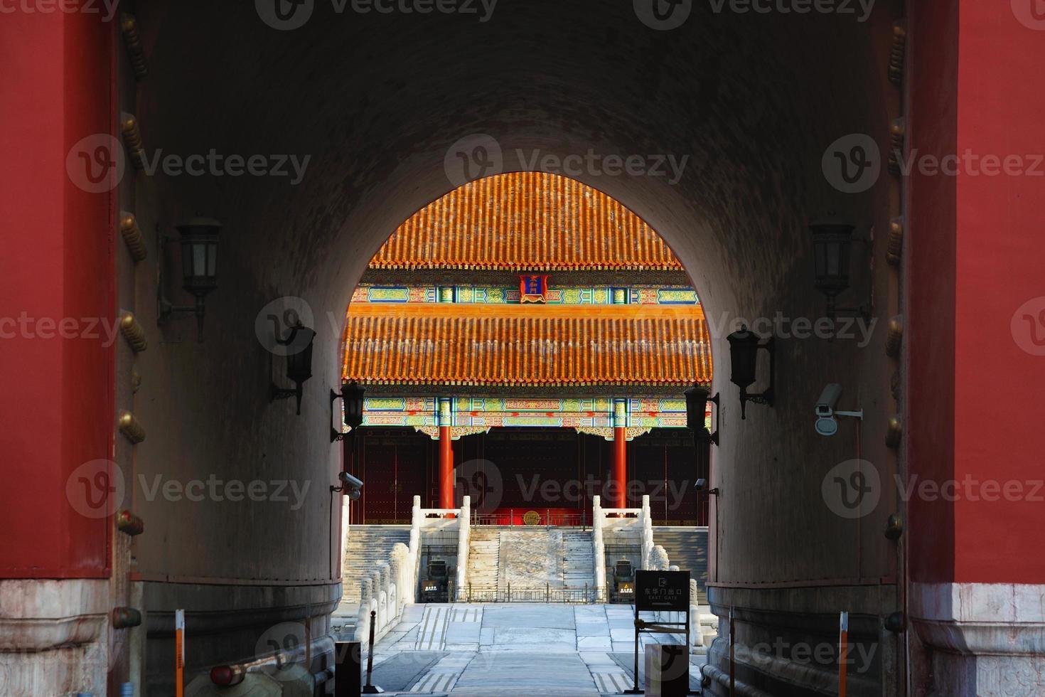 cidade proibida de beijing na china foto