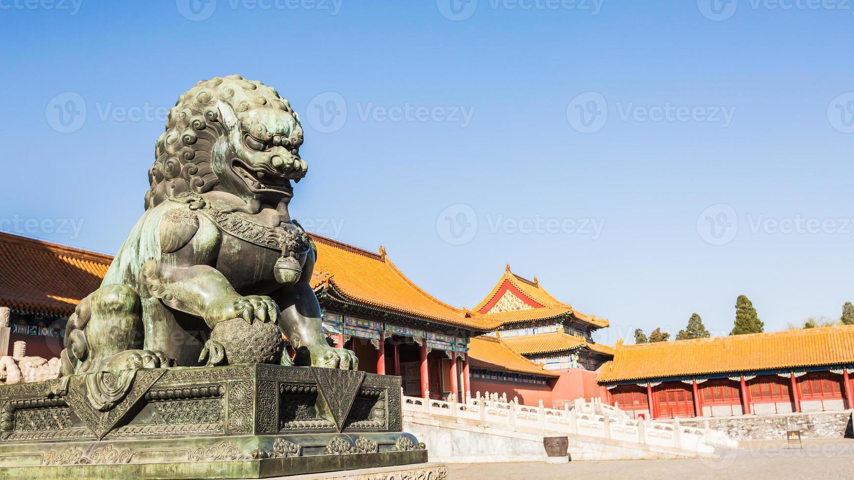 a cidade proibida, patrimônio histórico mundial, beijing china. foto