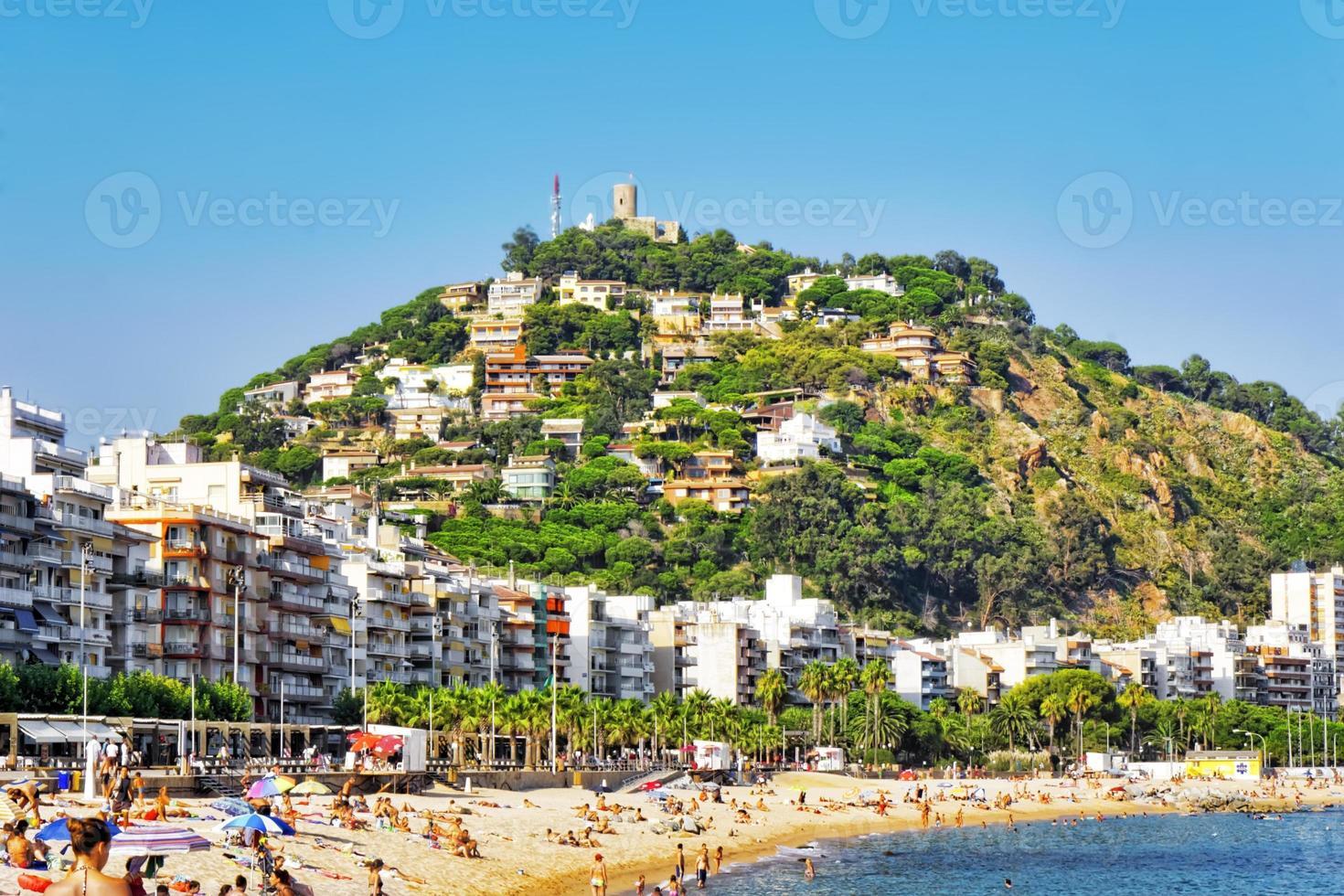 beira-mar, praia, costa na Espanha. foto