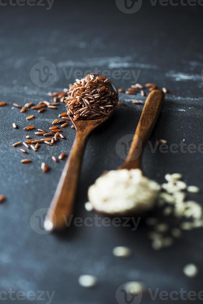 arroz em preto foto