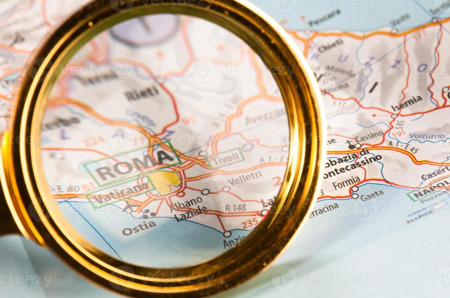 roma em um mapa foto