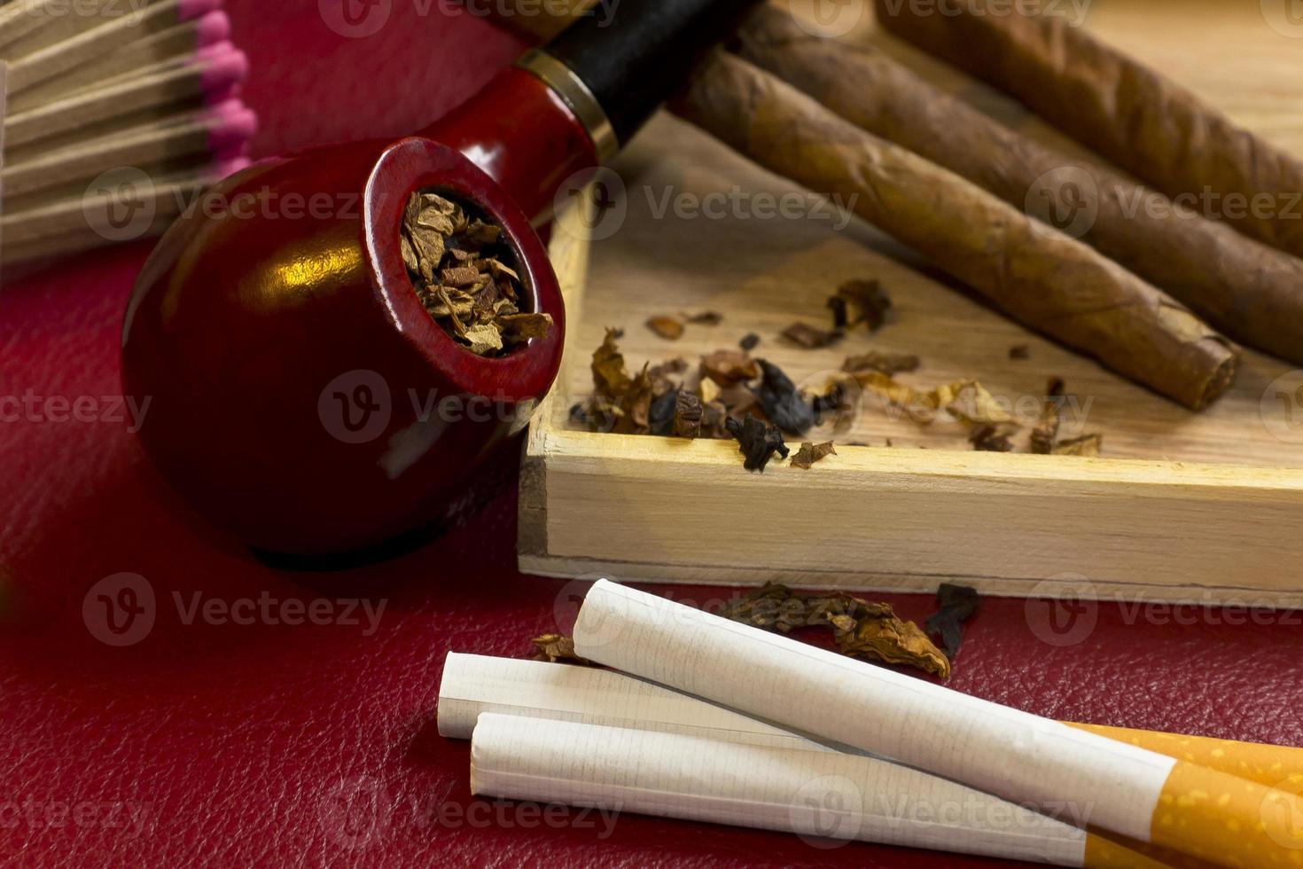 relaxamento do tabaco foto