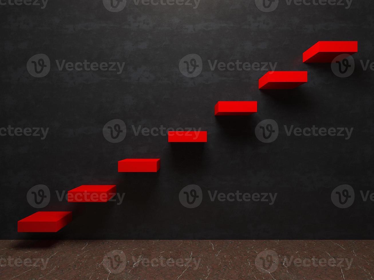 escada para a perspectiva de interiores de sucesso foto
