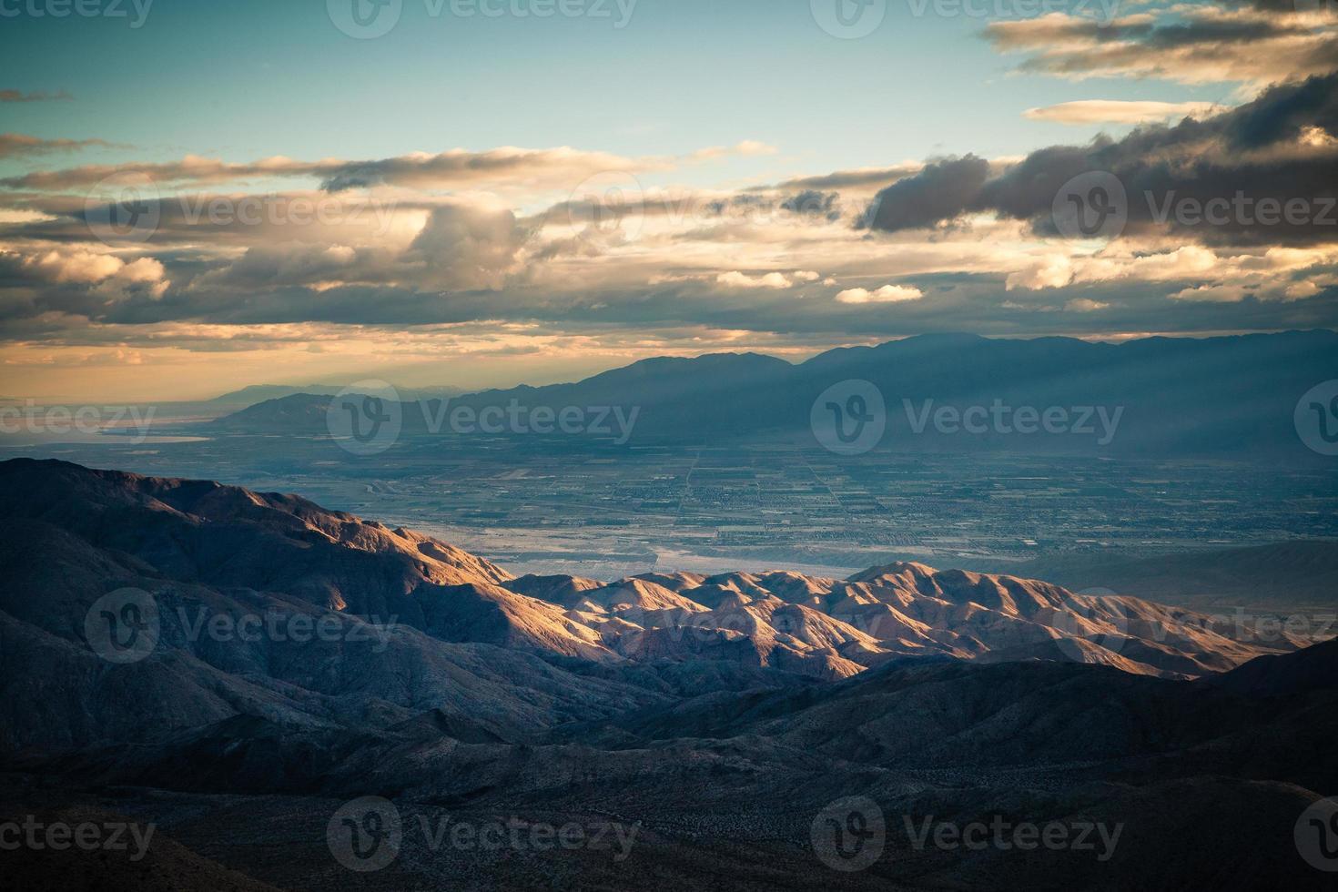 vista da chave, joshua tree national park ponto de vista de coachella foto