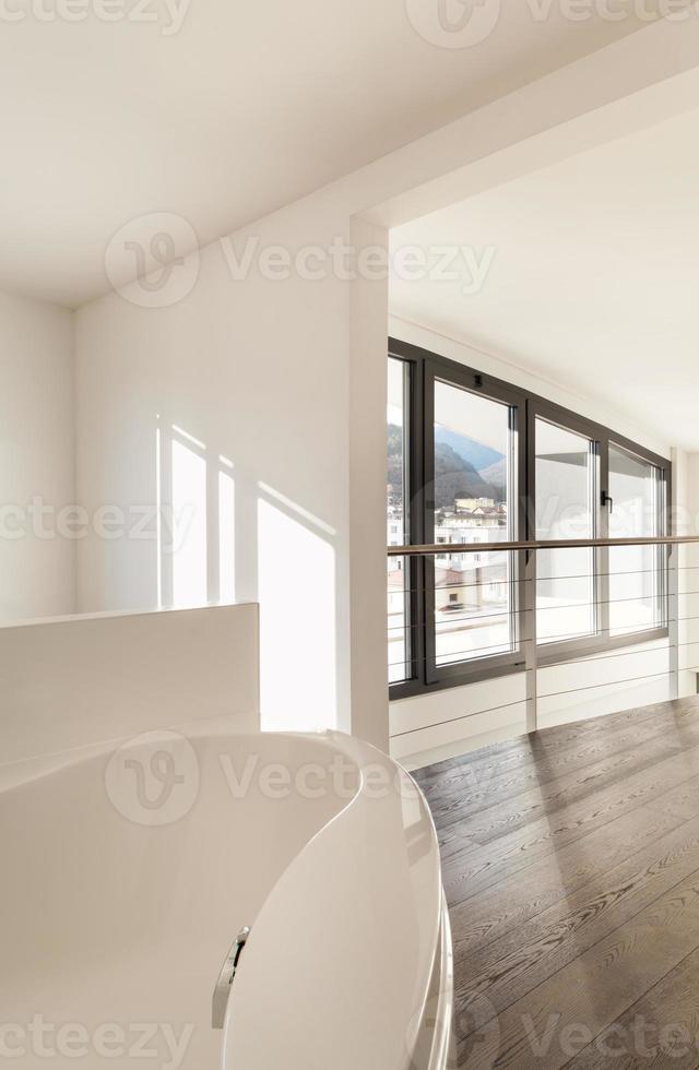 arquitetura, interior de um apartamento novo foto