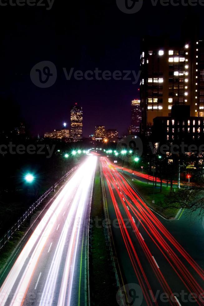 noite na estrada. foto