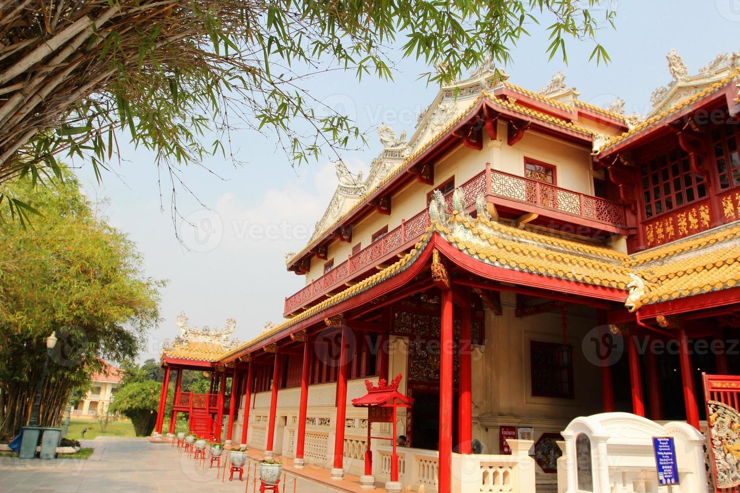 bang pa no palácio, ayutthaya, tailândia foto