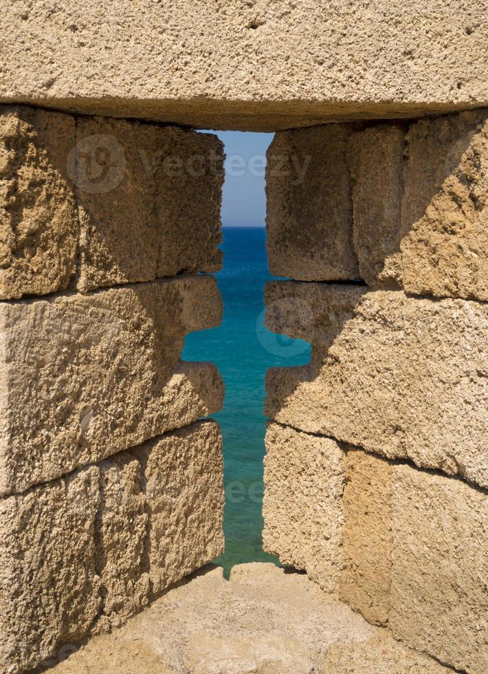 fortificações e ameias da cidade medieval, rhodes foto