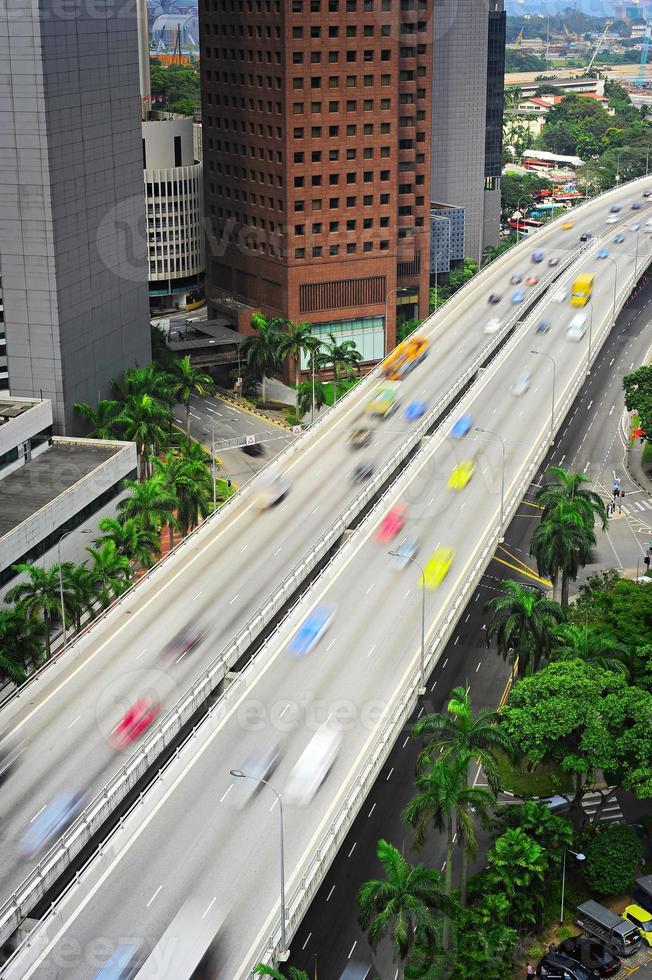 estrada movimentada, cingapura foto