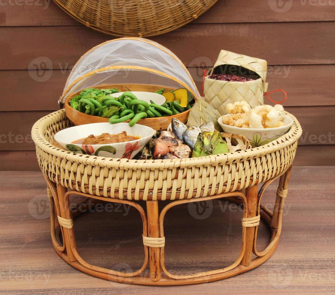 conjunto de comida de chiang mai, Tailândia foto