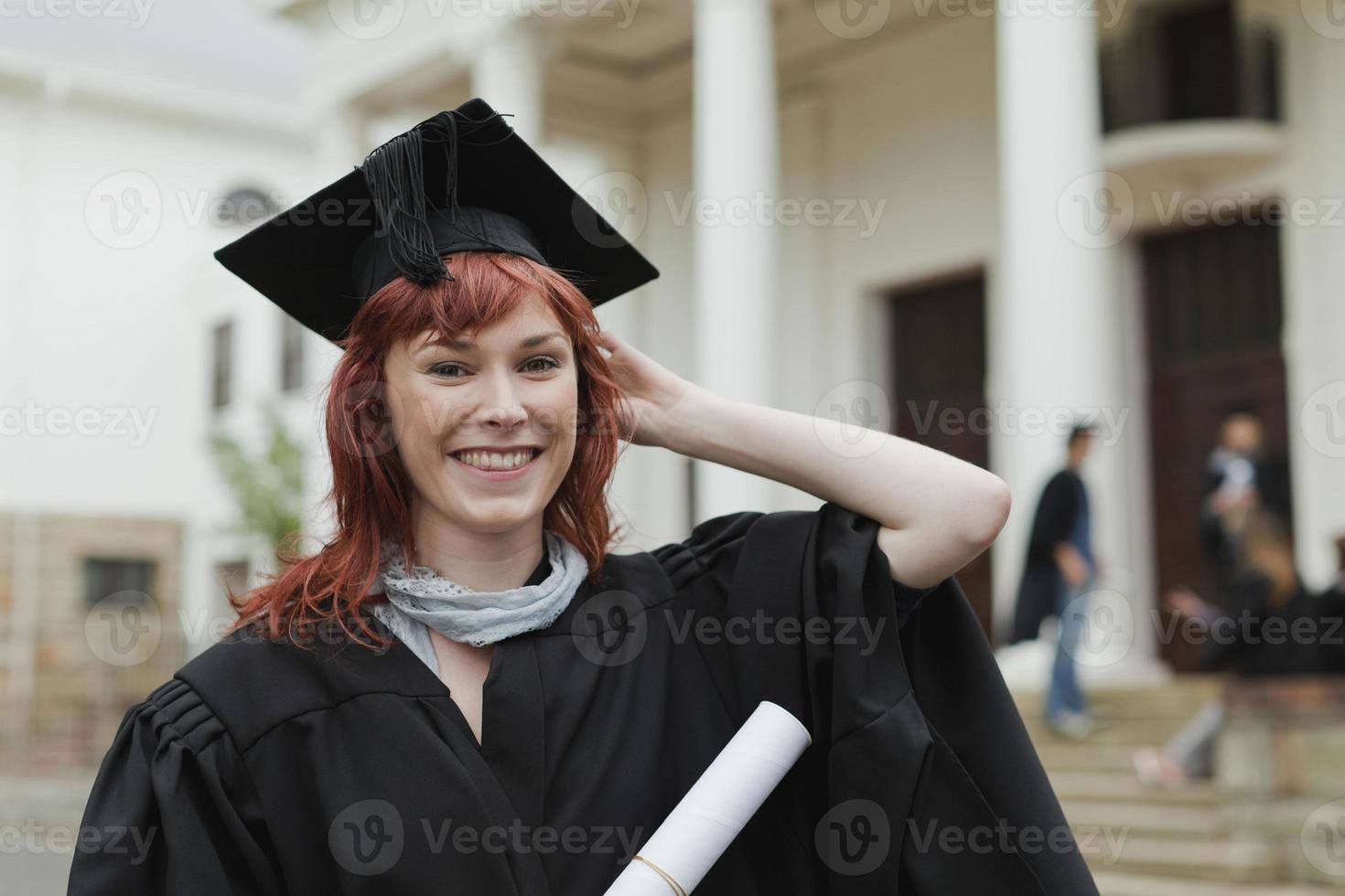 se formar com seu diploma no campus foto
