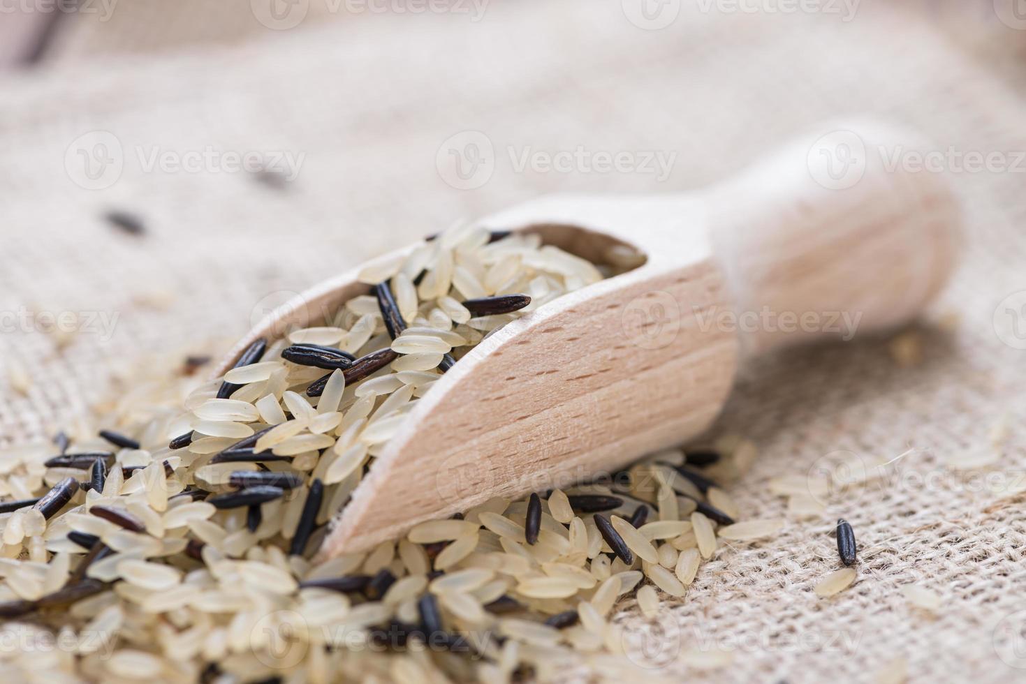 arroz (misturado com arroz selvagem) foto
