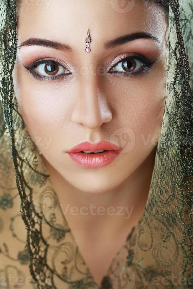 rosto de beleza indiana foto