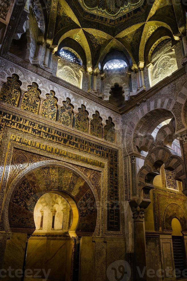 mihrab de la mezquita em cordoba, espanha foto