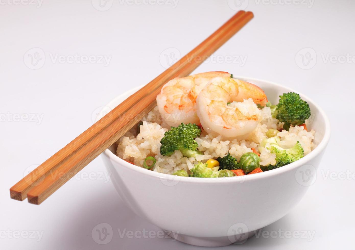 arroz vegetal frito foto