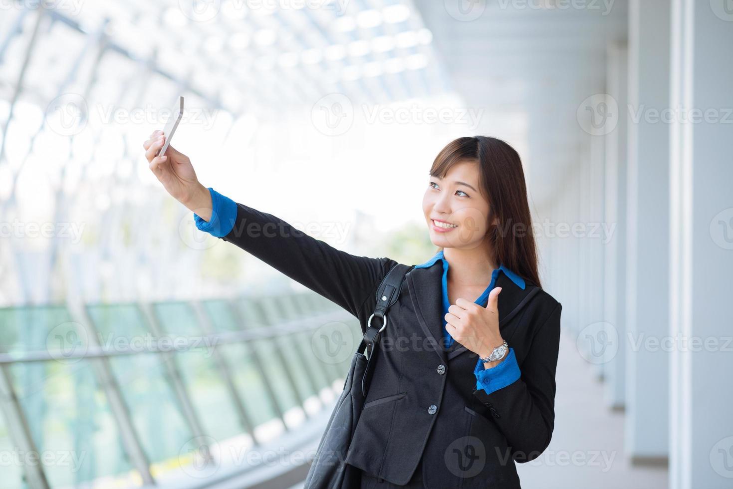 tomando selfie foto