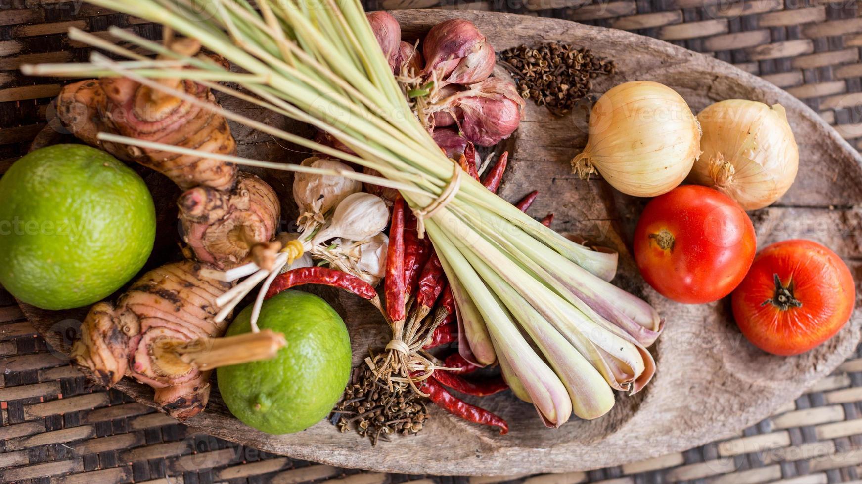 ingrediente de comida tailandesa foto