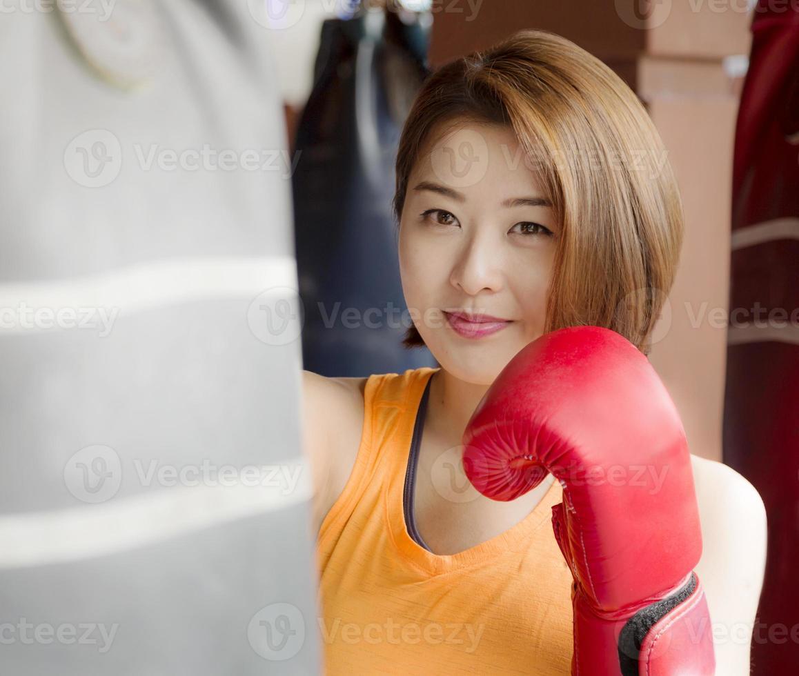 senhora boxer foto