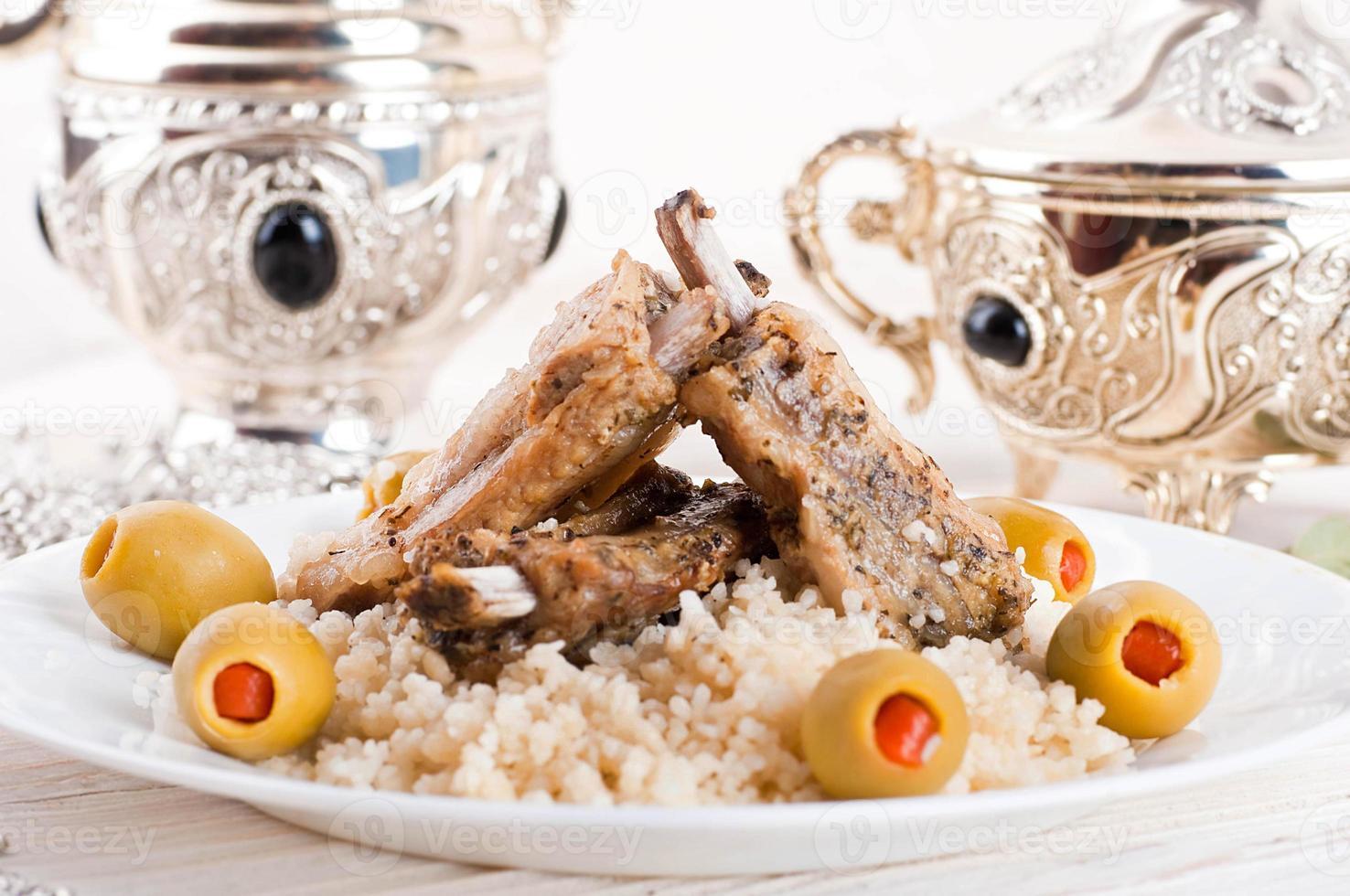 tagine marroquino com costelas de cordeiro foto