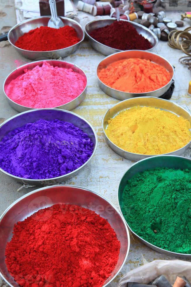 feliz santo farben na Índia foto