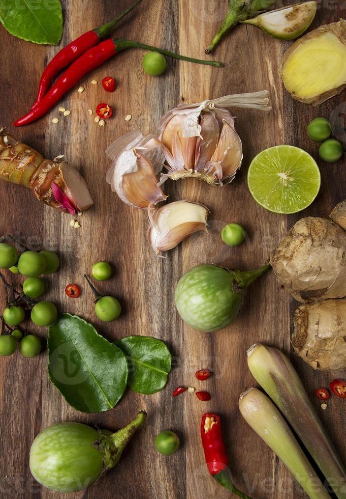 ingredientes alimentares tailandeses foto