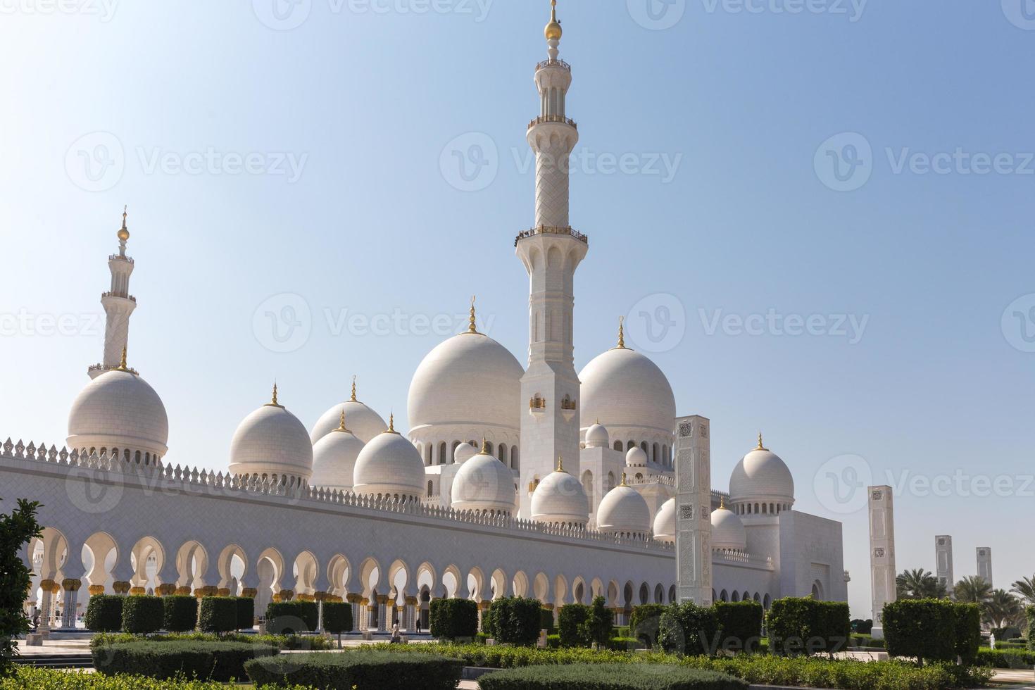 Mesquita Sheikh Zayed em Abu Dhabi foto