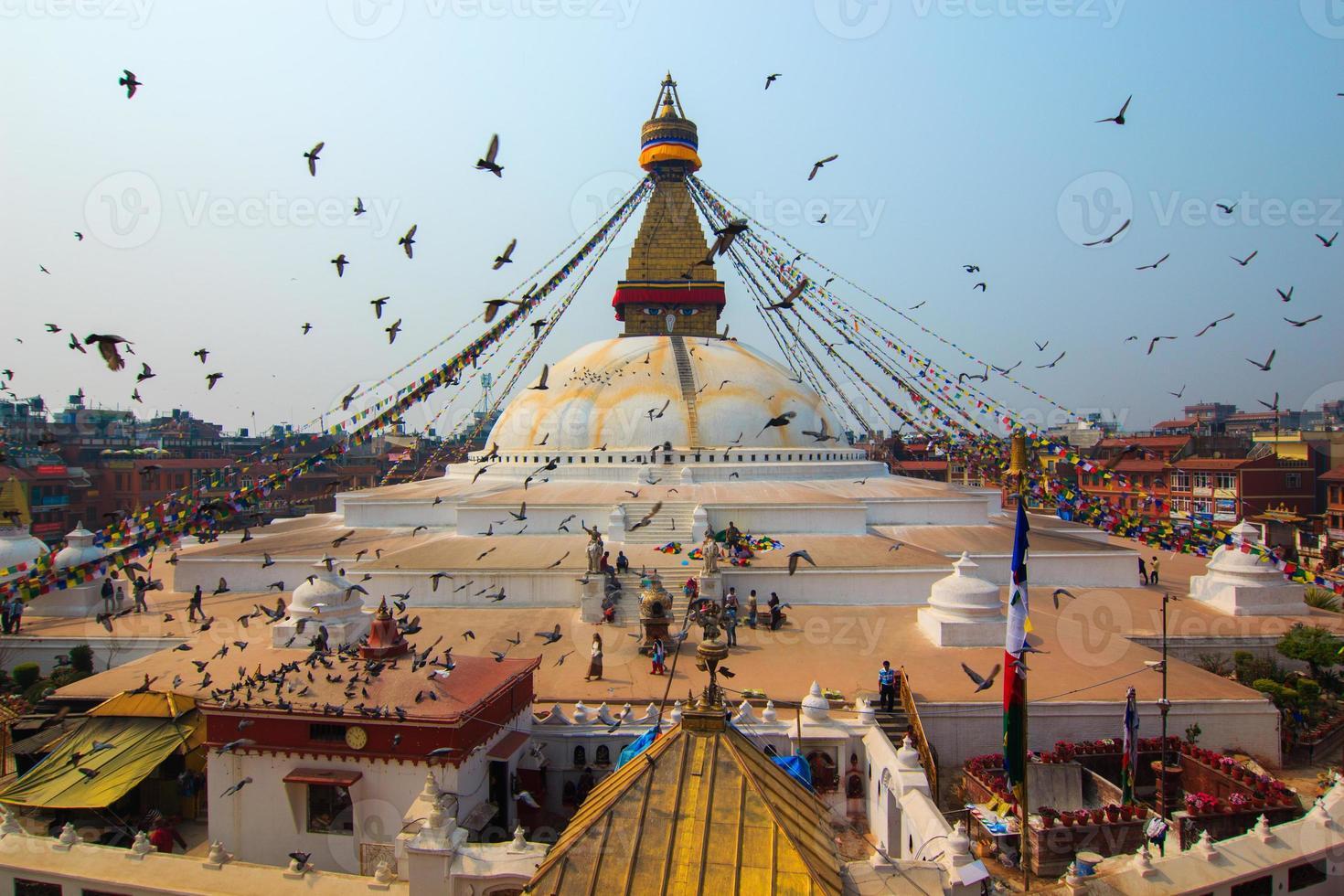 boudhanath stupa em kathmandu, nepal. foto
