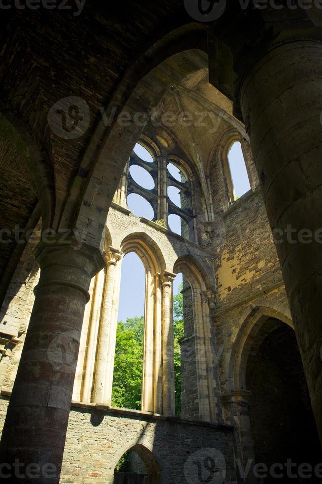 abadia dos aldeões la ville, ruína da igreja foto