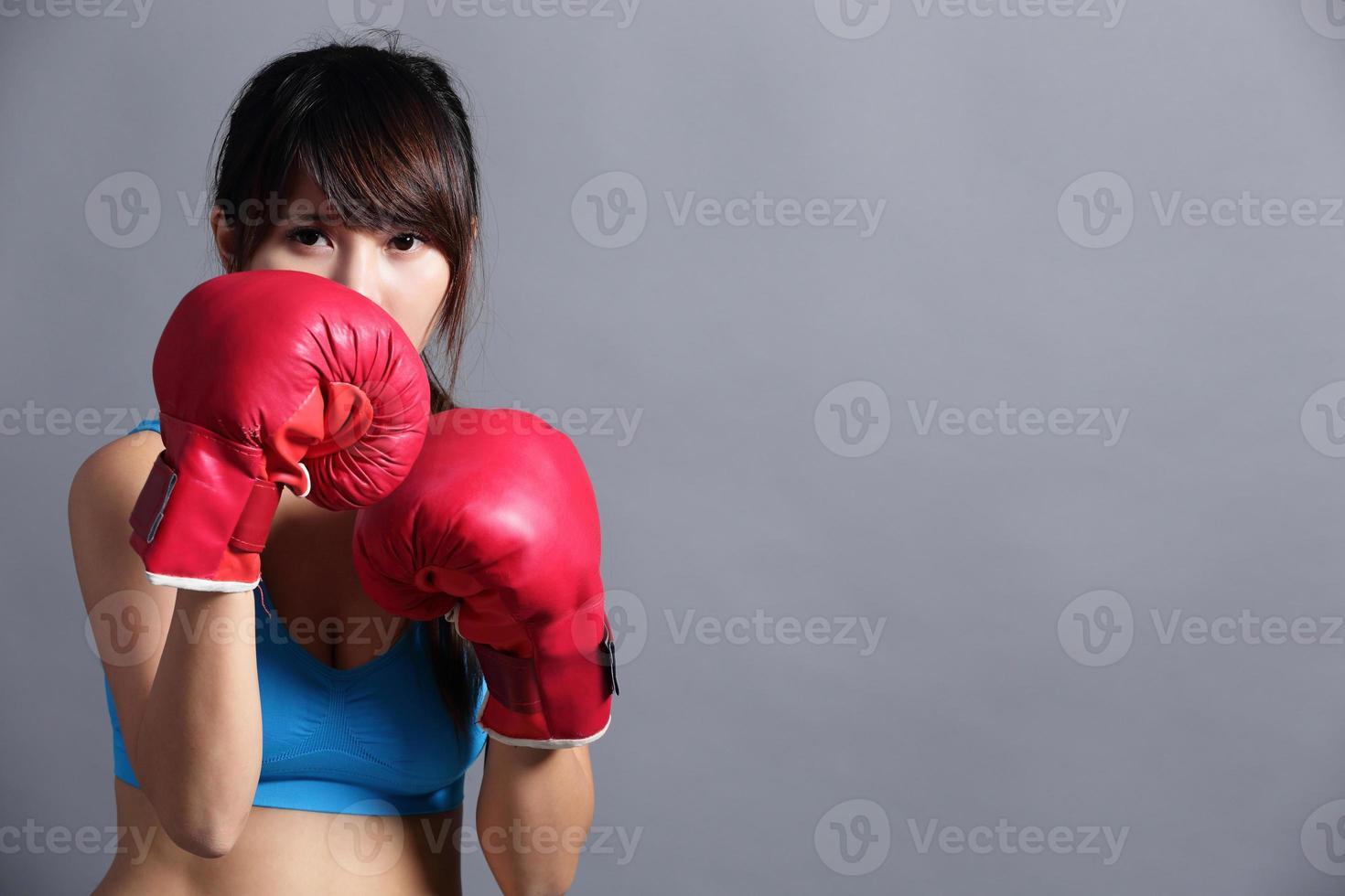 mulher de boxe foto