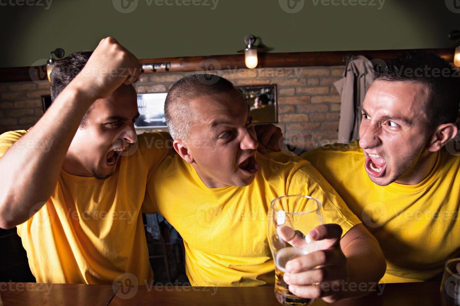 fãs de esporte no pub foto