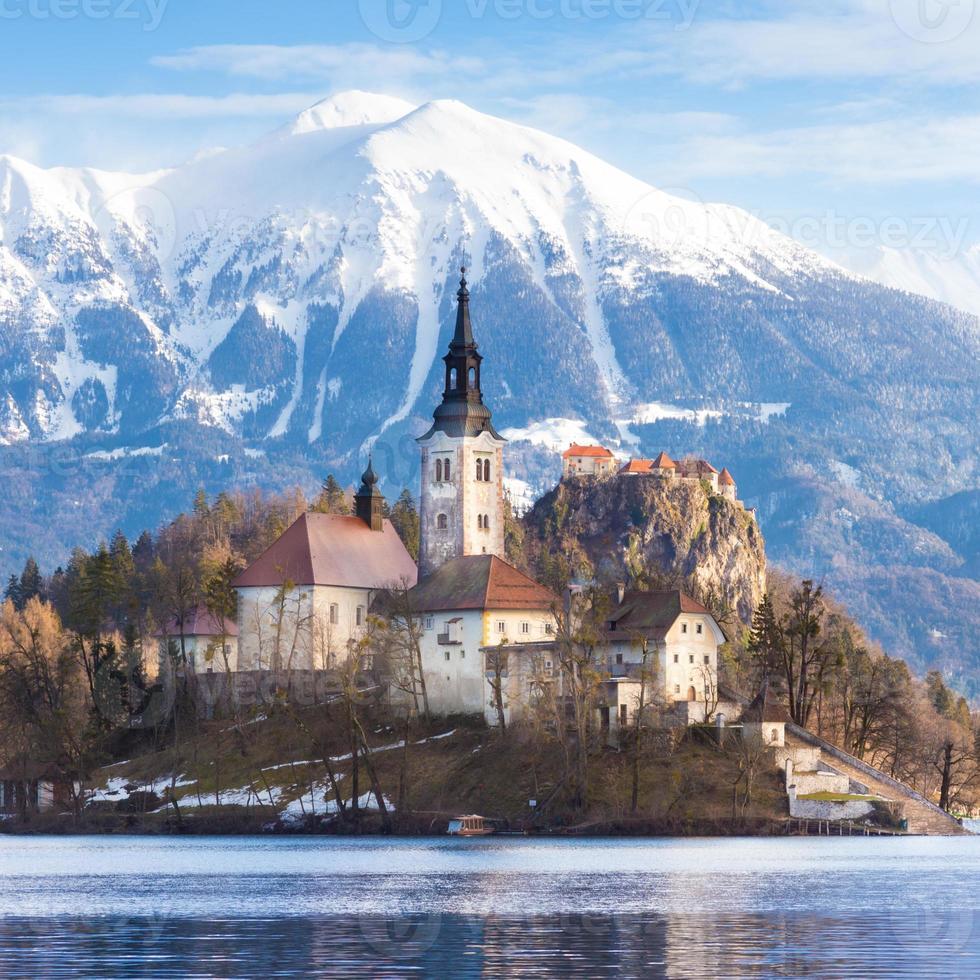 Lago sangrado, Eslovênia, Europa. foto