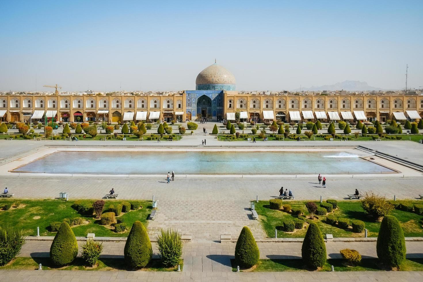 praça naqsh-e jahan em isfahan, irã. foto
