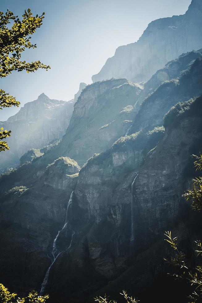 foto panorâmica das montanhas.
