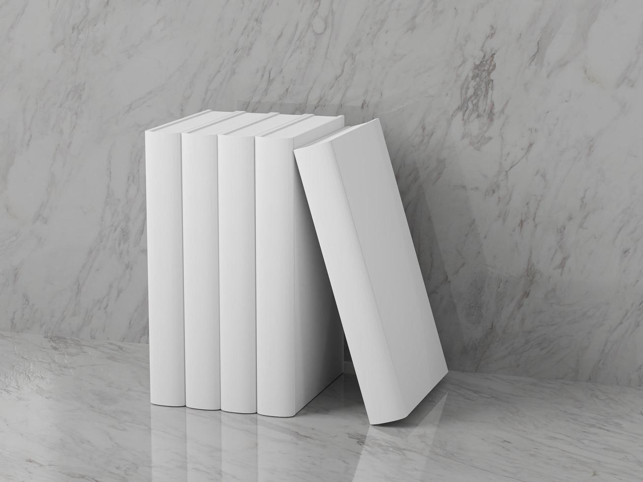 modelo de livros em branco foto