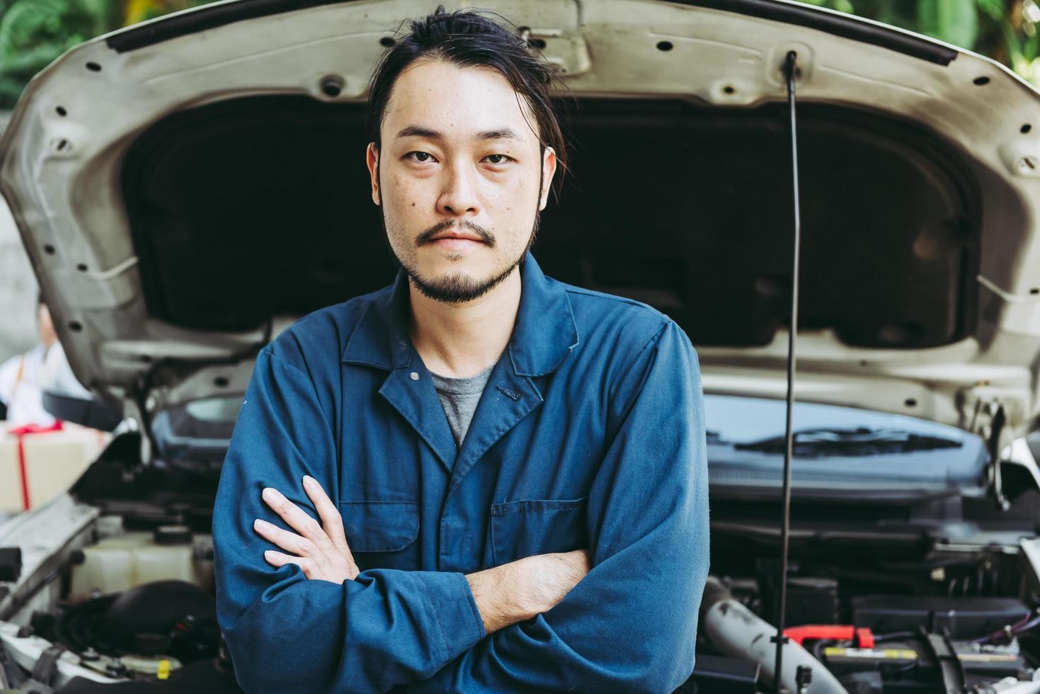 retrato mecânico de automóveis foto